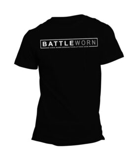 Chris Jackson - Warrior Wealth Solutions - Battle Worn Mens Black T-Shirt