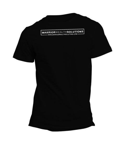 Warrior-Wealth-Solutions-Company-Logo-with-Link-Mens-Black-T-Shirt
