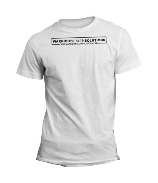 Warrior Wealth Solutions Company Logo with Link Mens White T-Shirt