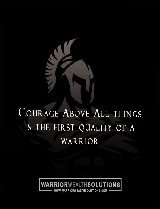 Warrior Wealth Solutions - Courage Above All Wall Art - Main